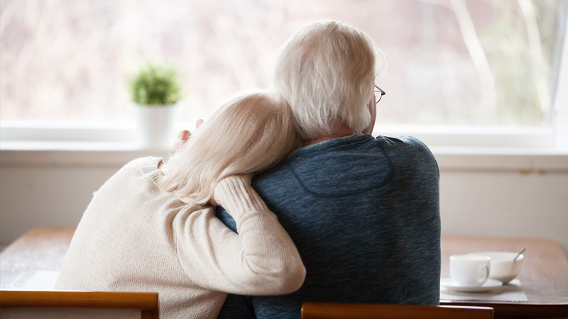 Couple receiving care home funding advice